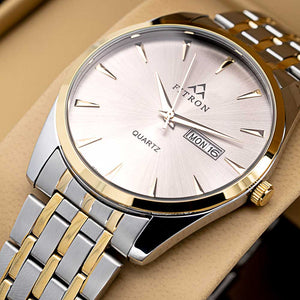 FITRON Slim FT-210 Ultra High Quality Day Date Classic Watch with Japanese  Quartz Movement