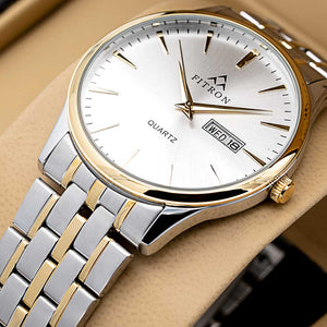 FITRON Slim FT-214 Ultra High Quality Day Date Classic Watch with Japanese  Quartz Movement
