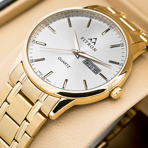 Original FITRON 223 Slim Ultra High Quality Day Date Classic Watch with Japanese  Quartz Movement