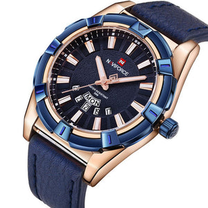 NAVIFORCE Mens Analog DAY DATE exclusive Blue/Gold Quartz NF-9118m_B