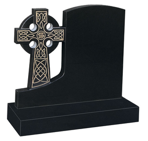 35 Headstone Celtic Cross Black