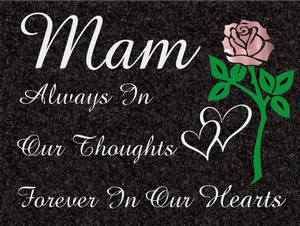 Mam special remembrance plaque - Impala Granite