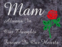 Load image into Gallery viewer, Mam special remembrance plaque - Blue Lagoon Granite