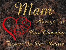 Load image into Gallery viewer, Mam special remembrance plaque - Aurora Granite