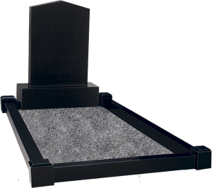 Apex Top Headstones with Grave Surround