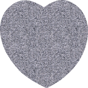 Heart Plaque - Grey Granite