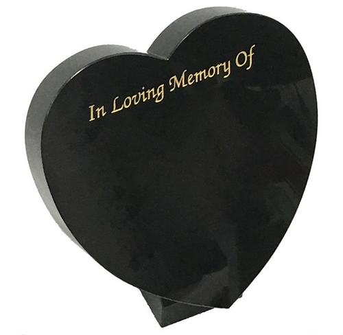 Heart Plaque - Black Granite