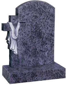 Cross & Shroud Granite Headstones - GM Ireland Provide Dublin Ireland