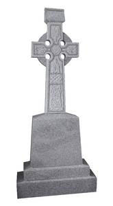 Grey Granite Celtic Cross Headstone