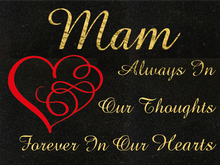 Load image into Gallery viewer, Mam special remembrance plaque - Black Granite