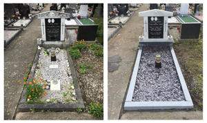 Renovation of grave