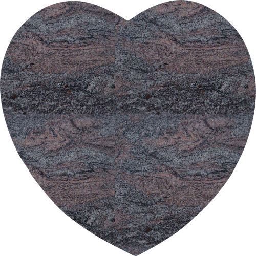 Heart Plaque - Paradiso Granite