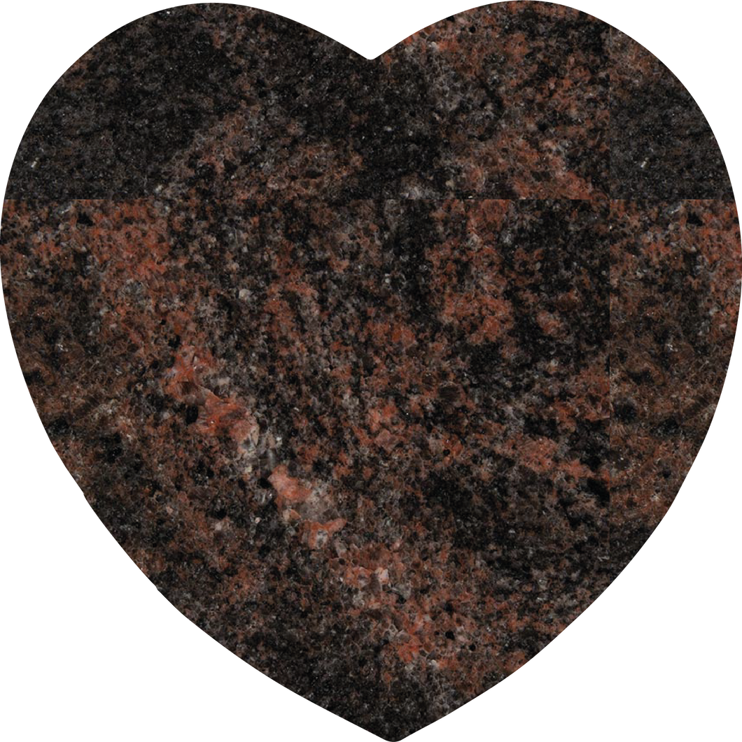 Heart Plaque - Aurora Granite