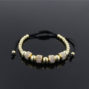 Men's Gold Charm Braided Bracelet