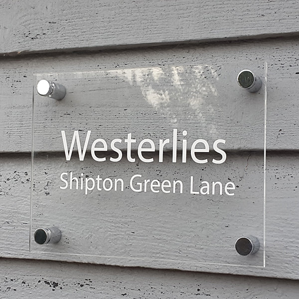 Acrylic House Name Sign