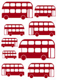 Mini London Buses And Cab Wall Stickers