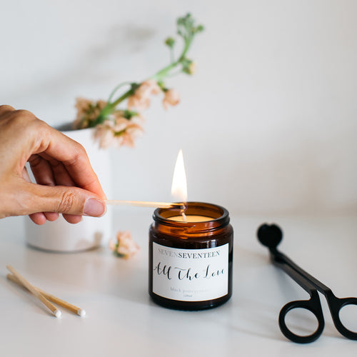 'All the Love' Black Pomegranite Candle