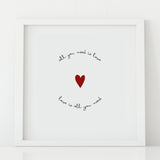 'All You Need is Love' Print