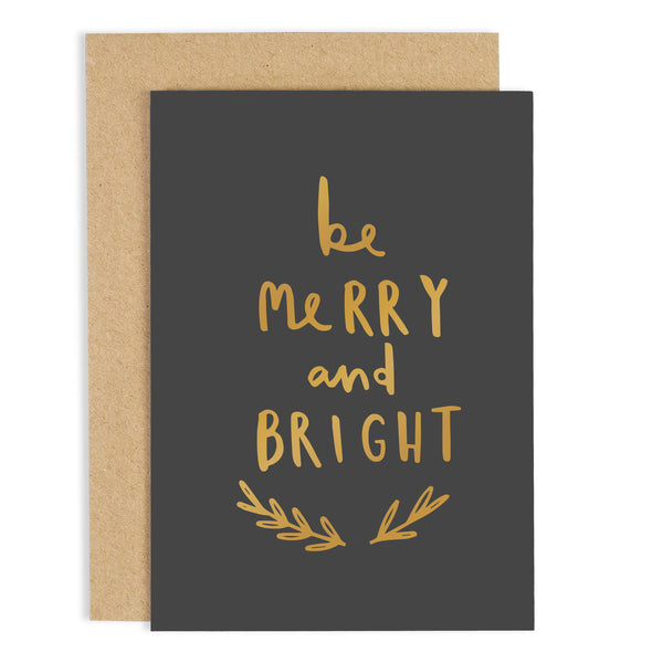 'Be Merry and Bright' Christmas Card
