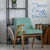 'Classy & Fabulous' Coco Chanel Quote Wall Sticker