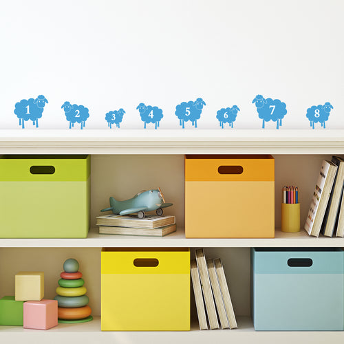 Mini Counting Sheep Wall Stickers