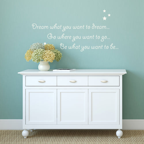 'Dream What you Want' Wall Sticker