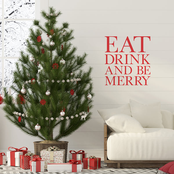 'Eat Drink and Be Merry' Wall Sticker