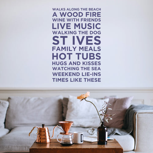 'My Favourite Things' Personalised Wall Sticker