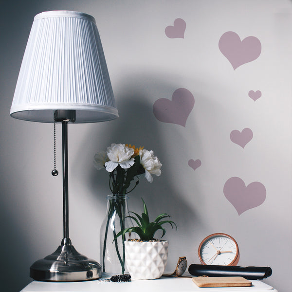 Mini Heart Wall Stickers