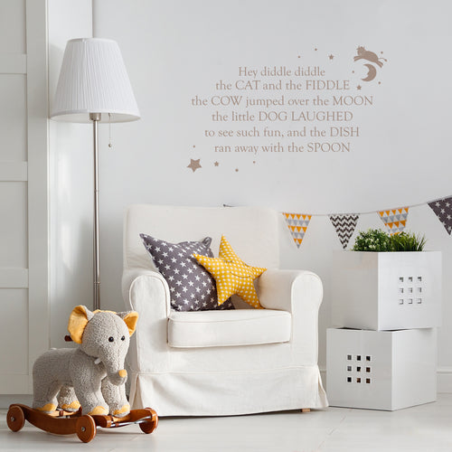 Hey Diddle Diddle Wall Sticker