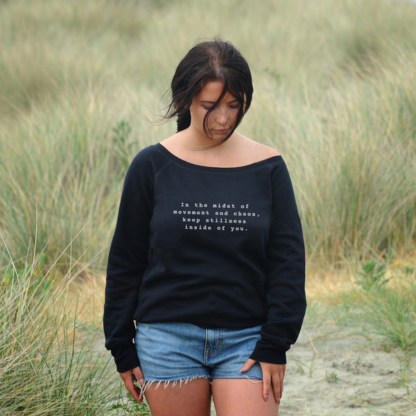 'In the Midst of Chaos' Slouchy Sweatshirt