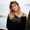 'Inhale/Exhale' Slouchy Sweatshirt