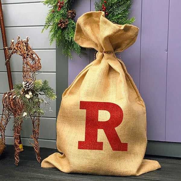 Personalised Glitter Initial Christmas Sack