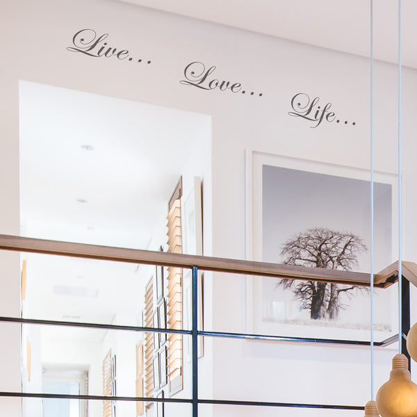 'Live Love Life' Wall Sticker