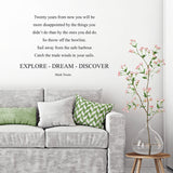 'Explore-Dream-Discover' Wall Sticker