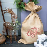 Red Glitter Merry Christmas Sack
