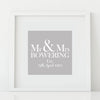 'Mr & Mrs' Personalised Print