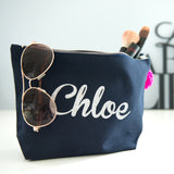Personalised Flat base make up bag