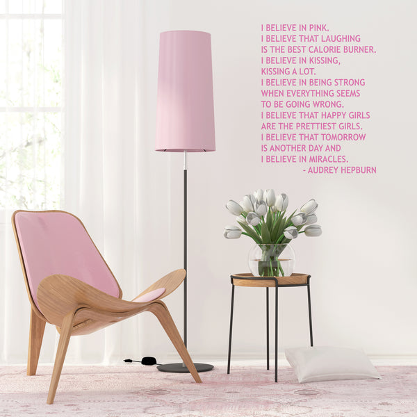'I Believe in Pink' Wall Sticker