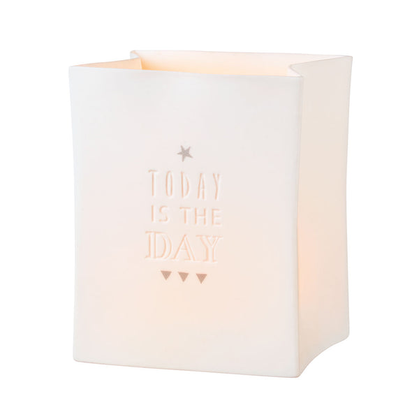 'Today is the Day' Porcelain Light Bag