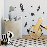 Mini Rocket Wall Stickers