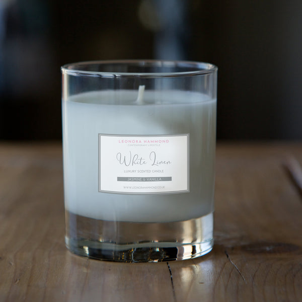'White Linen' Scented Candle