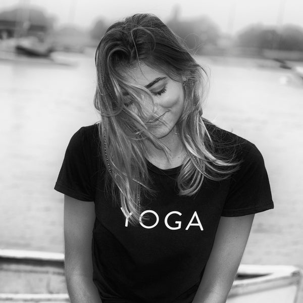 'Yoga' Short Sleeve fitted Tee