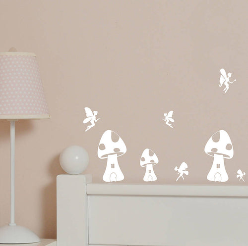 Fairy Houses Mini Wall Stickers