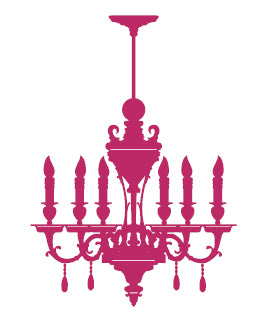Ornamental Chandelier Wall Sticker