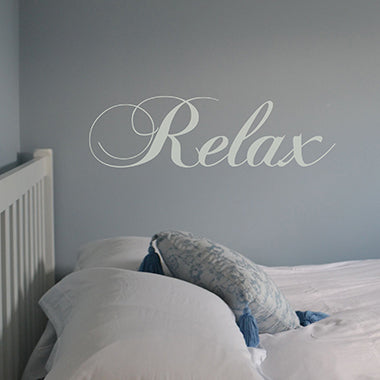 Swirly 'Relax' Wall Sticker