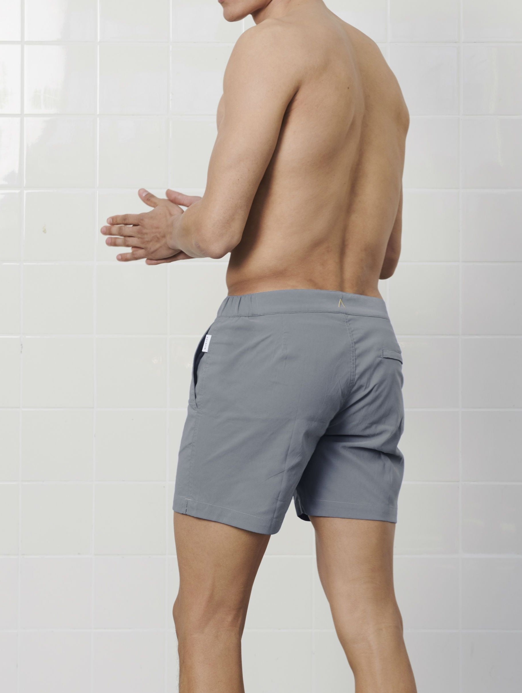 Ash Grey SwimGym shorts - GOLDFIN Swim Shorts