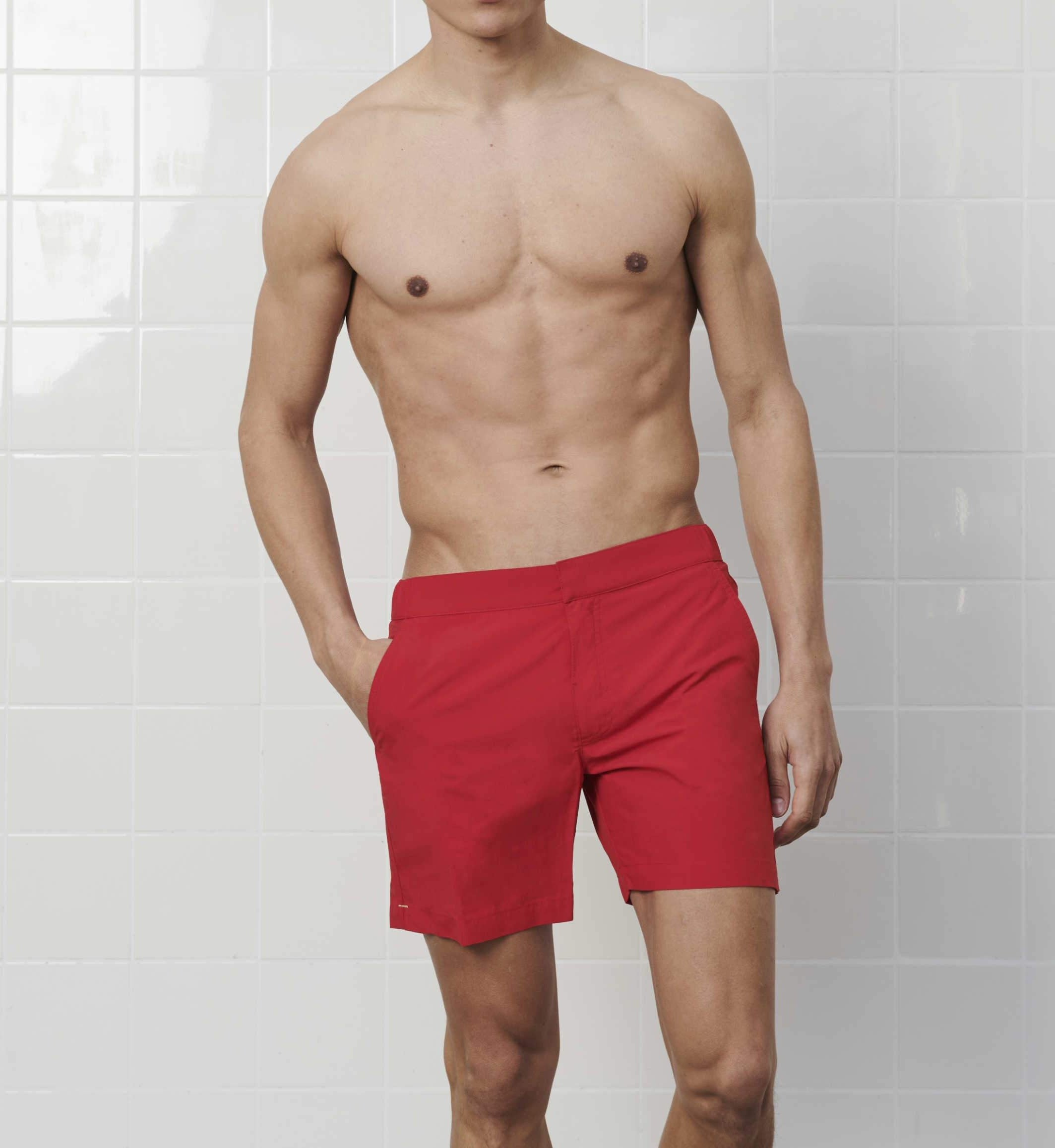 Lichee Red Swim Shorts - GOLDFIN Swim Shorts