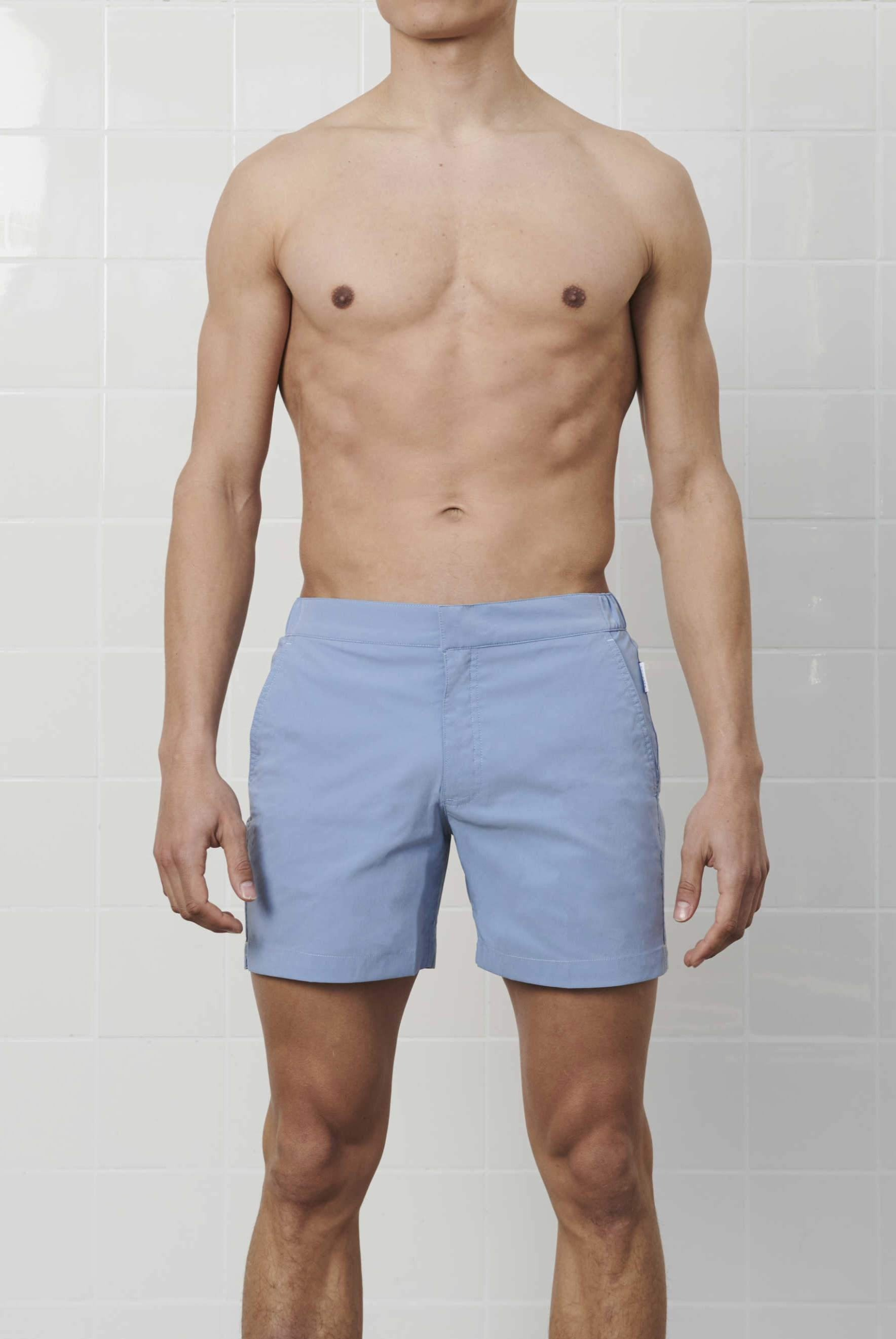 Steel Blue SwimGym Shorts - GOLDFIN Swim Shorts