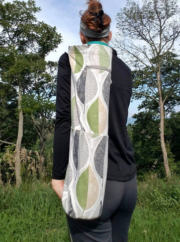 Yoga Mat Bag - Green Leaf